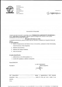 Convocazione Assemblea 23-07-2014